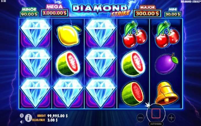 Džoker-dobitna kombinacija sa džokerom-Diamond Strike-Pragmatic Play