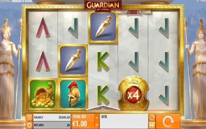 Guardian of Athens-online casino bonus-osnovna igra-quickspin