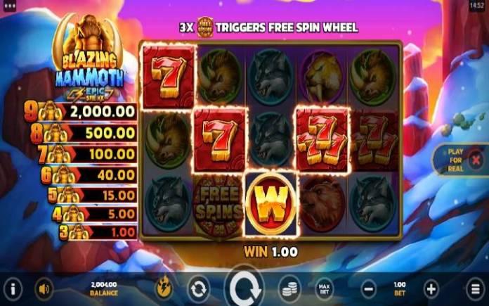 Džoker-online casino bonus-Blazing Mammoth