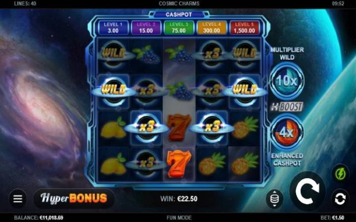 džoker-online casino bonus-cosmic charms