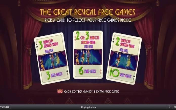 besplatni spinovi-odaberite vrstu besplatnih spinova-the great reveal