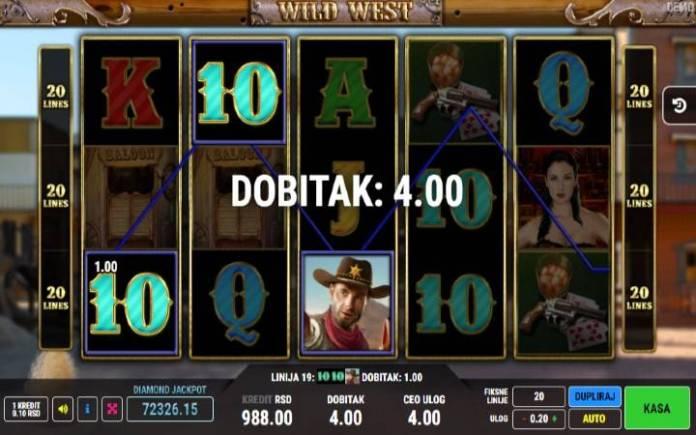Džoker-šerif-online casino bonus-wild west