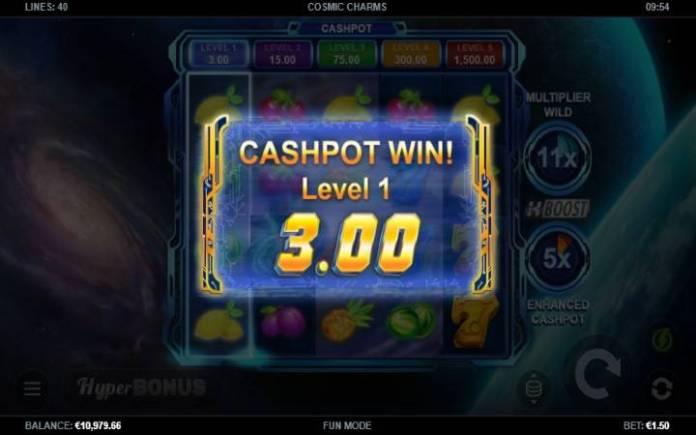 džekpot-cashpot-cosmic charms-online casino bonus