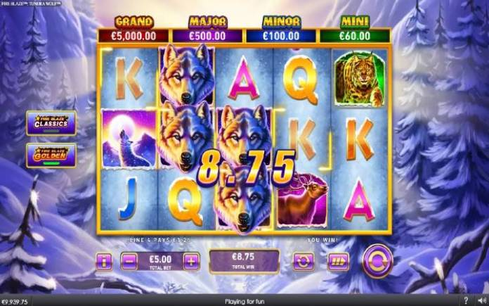 džoker-online casino bonus-fire blaze golden tundra wolf