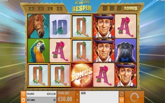respin bonus-online casino bonus-tales of dr dolittle
