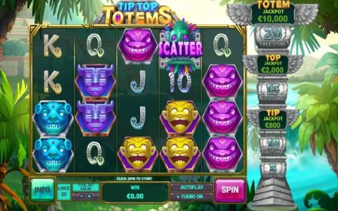 Tip Top Totemsonline casino bonus-playtech