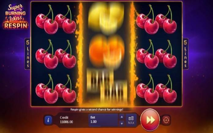 Respin Bonus-super burning wins respin-online casino bonus-playson