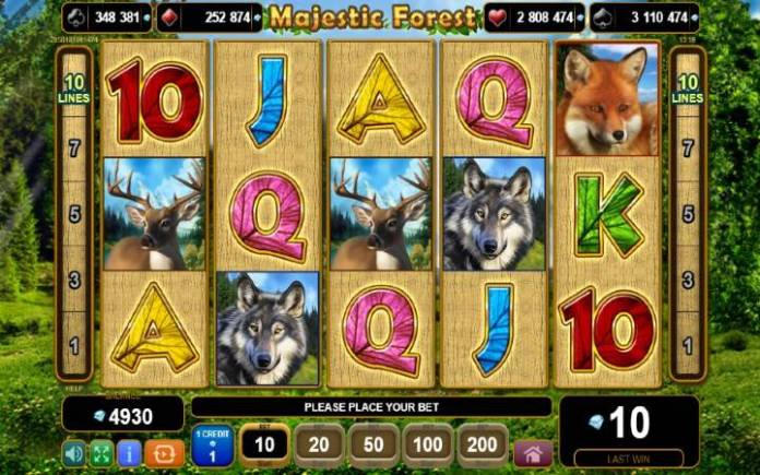 majestic forest-online casino bonus-egt