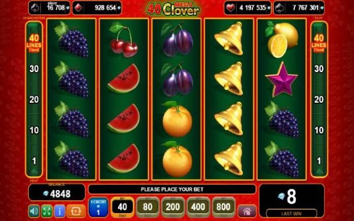 40 mega clover-online casino bonus-egt
