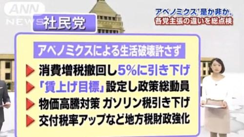 """アベノミクス""""是か非か"""" 各党主張の違いを総点検_テレビ朝日系(ANN)__-_Yahoo_ニュース 5"""
