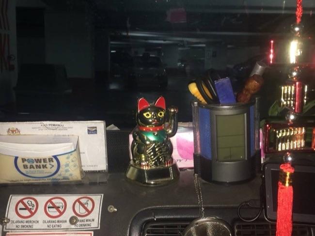 マレーシアタクシー車内撮影