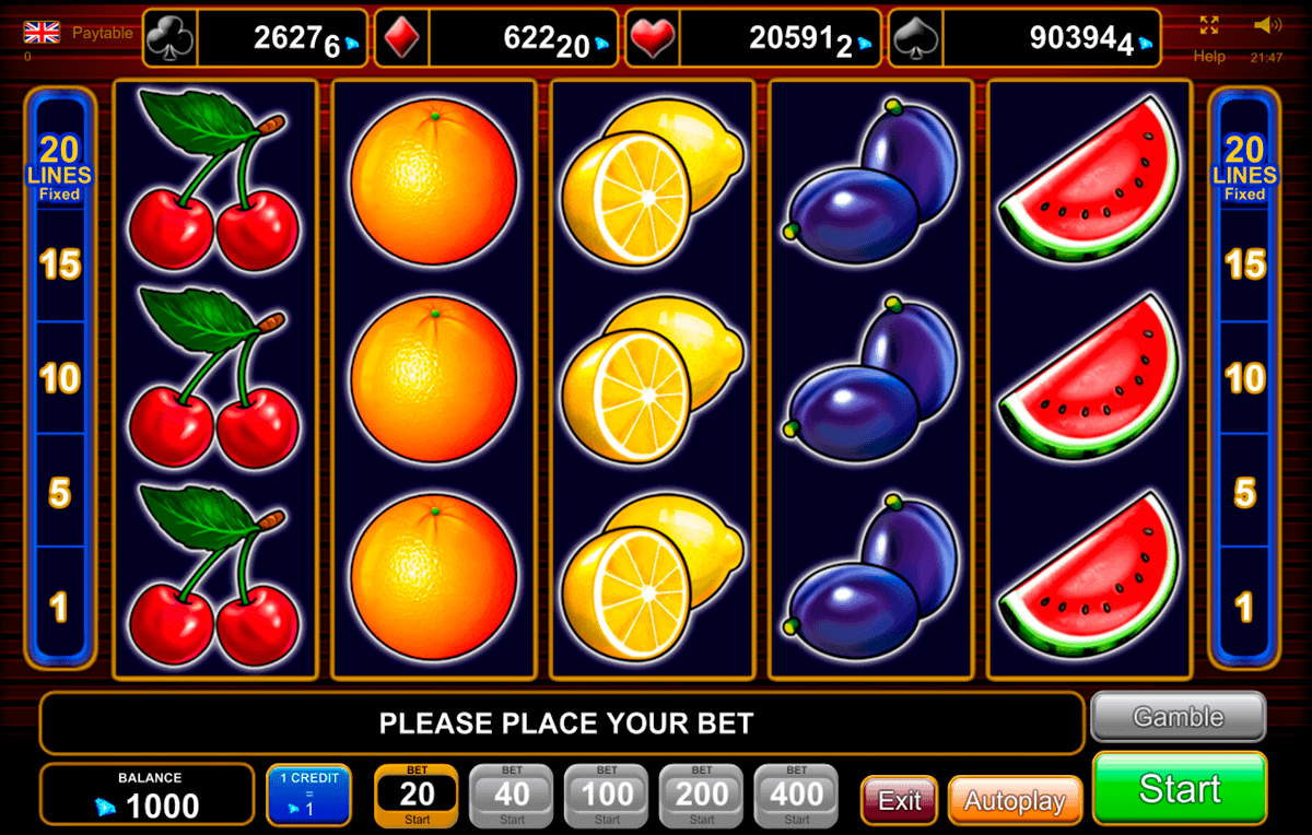 Play 20 Super Hot FREE Slot EGT Casino Slots Online