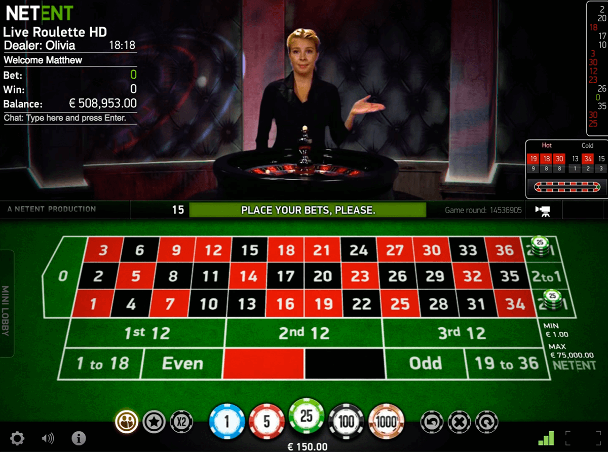 Play Live Roulette By NetEnt FREE Roulette Games