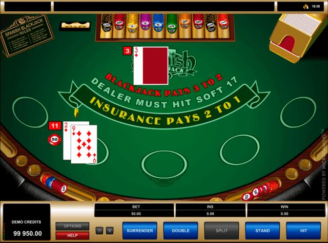 Play Spanish Blackjack by Microgaming   FREE BlackJack Games