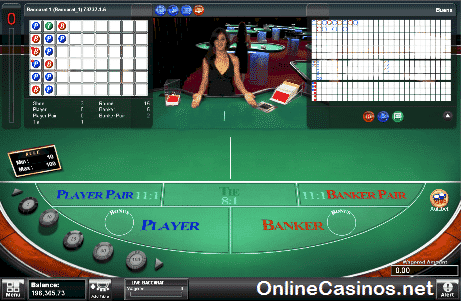 Live Baccarat Table View