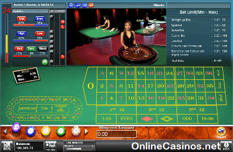 Microsoft Live Roulette Table View