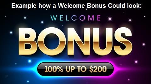 Example of Online Casino Welcome Bonus