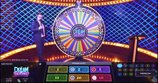 The Live Casino Game Dreamcatcher Screenshot