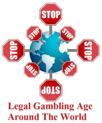 Globe With Stop Sign Legal Online Casino Gambling Age