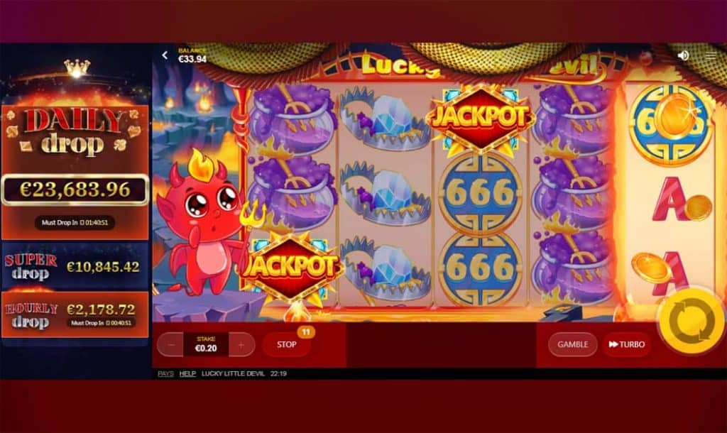 Lucky Little Devil Slot Daily Drop Jackpot View