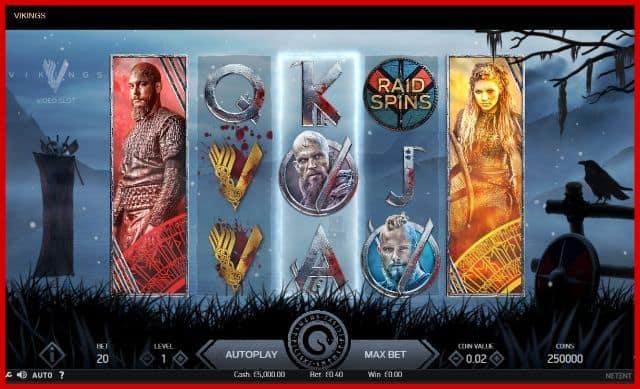 Vikings Online Slot Game View