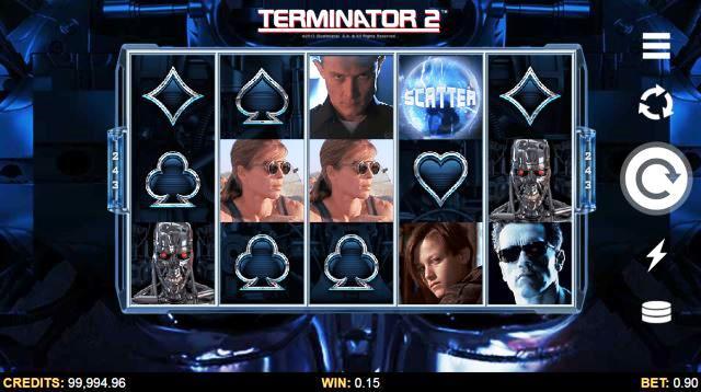 Terminator 2 Online Slot Game View