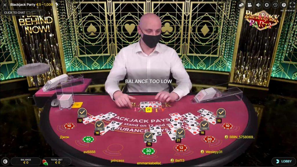 Blackjack Party Live Casino