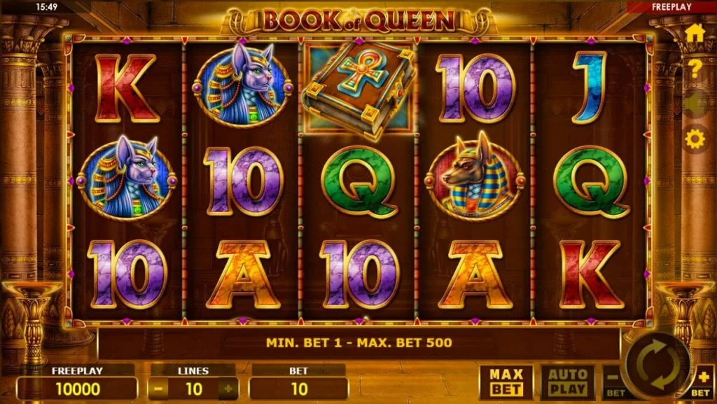 Mason Slots Book of Queen