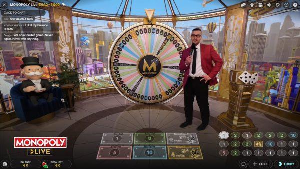 Speel MONOPOLY in dit Live Casino