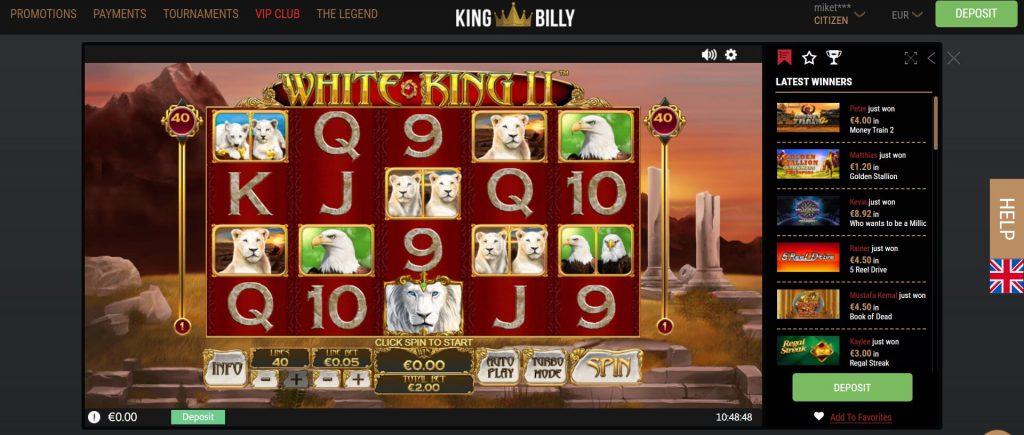 White King 2 Casino spel