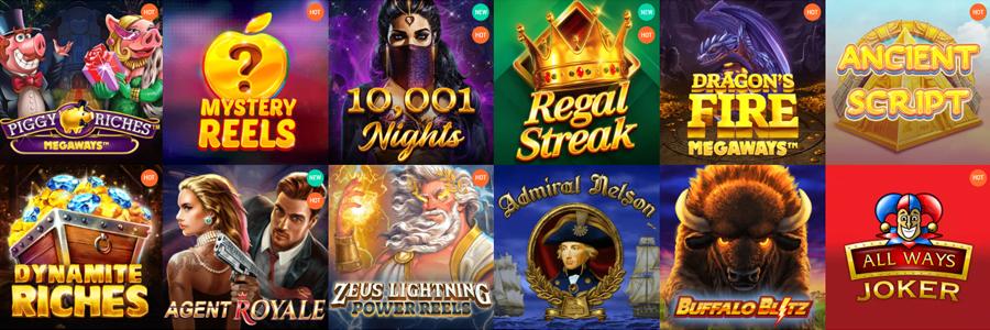 Spinia Casino gokkasten