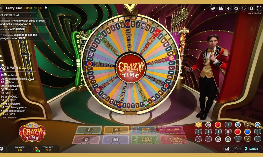 Crazy time is een spannend en meeslepend spel waar je extreem hoge bedragen kan winnen