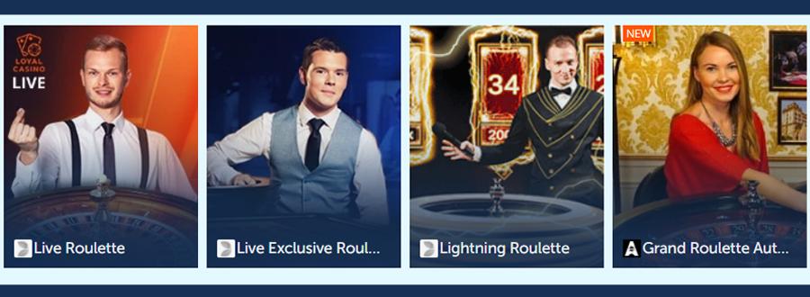 De live casino spellen van Loyal Casino