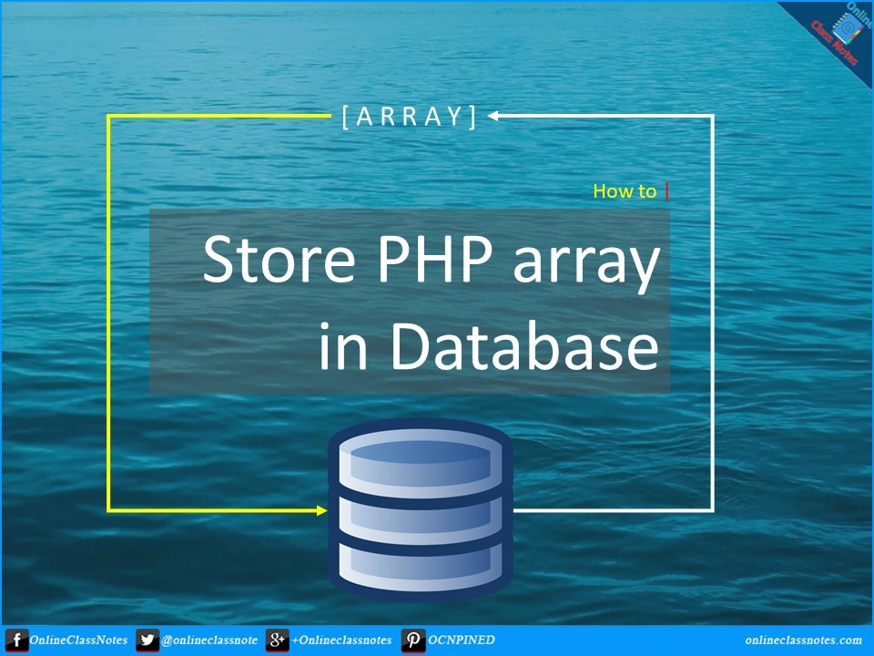 How to Save PHP Array in Database in PHP