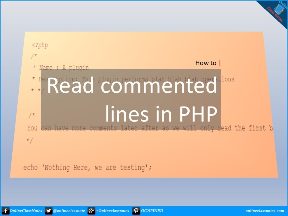 how to read commented lines into array in php
