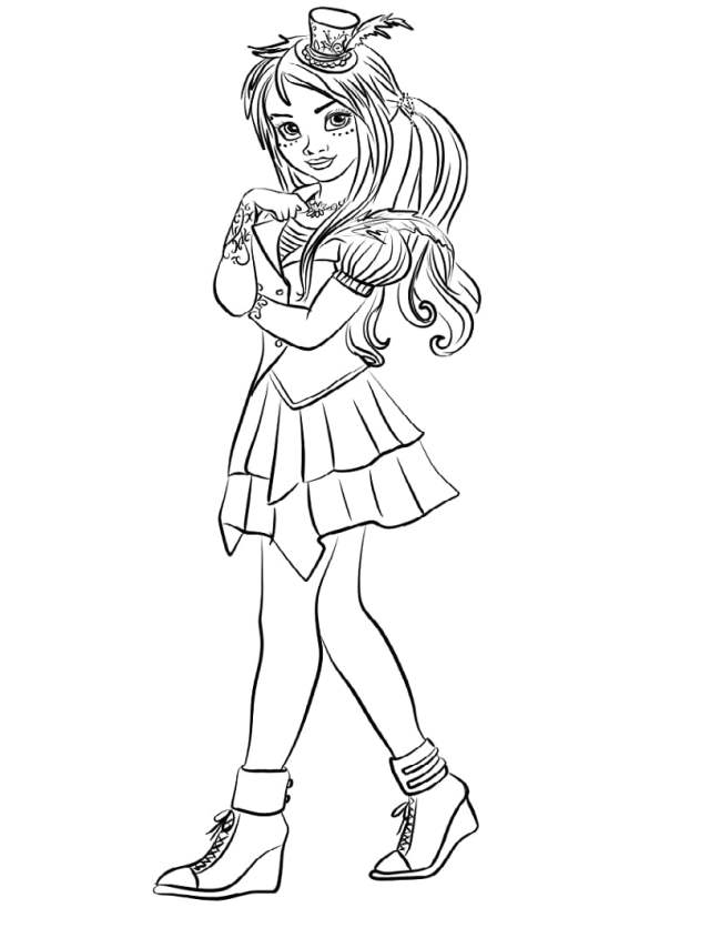 descendants-wicked-world-freddie-coloring-page - Online Coloring Pages