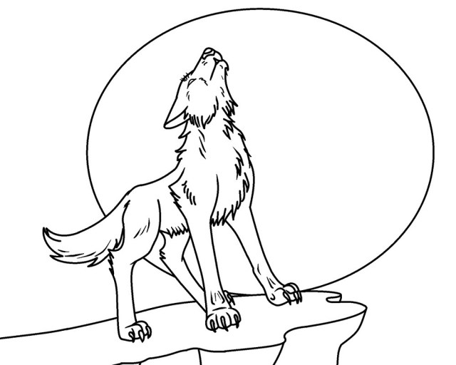 Realistic-Wolf-Coloring-Pages - Online Coloring Pages