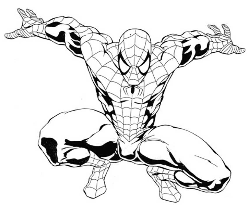 spiderman coloring pages online online coloring pages