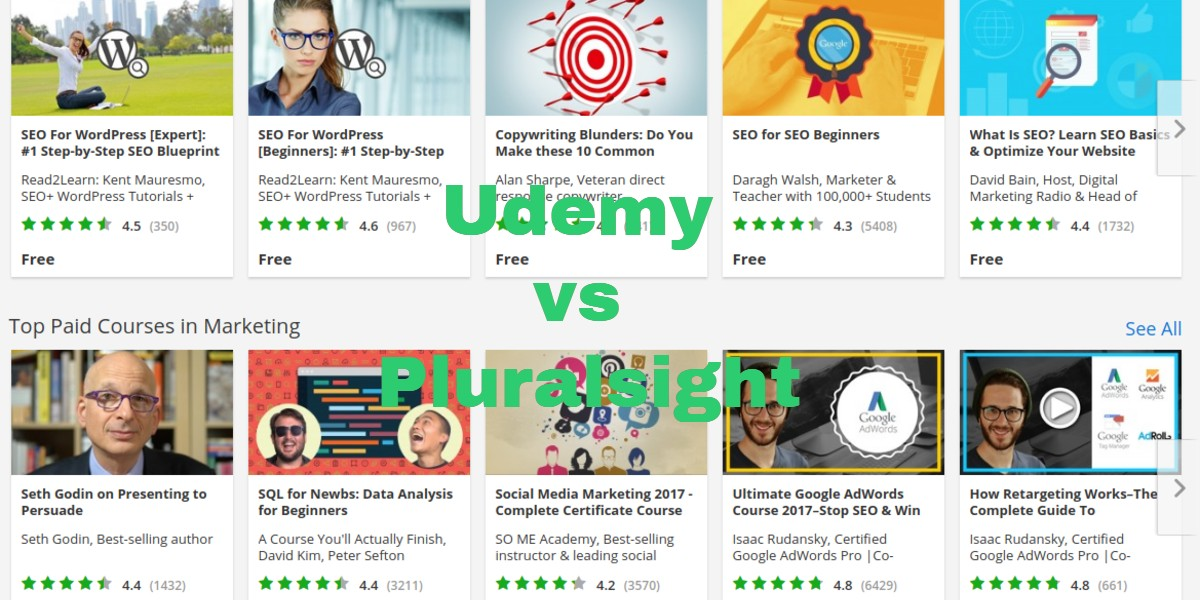 Udemy vs Pluralsight [Jul 2020]: Is Pluralsight or Udemy Better?