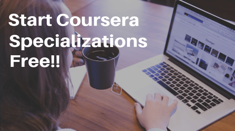Coursera specializations for free