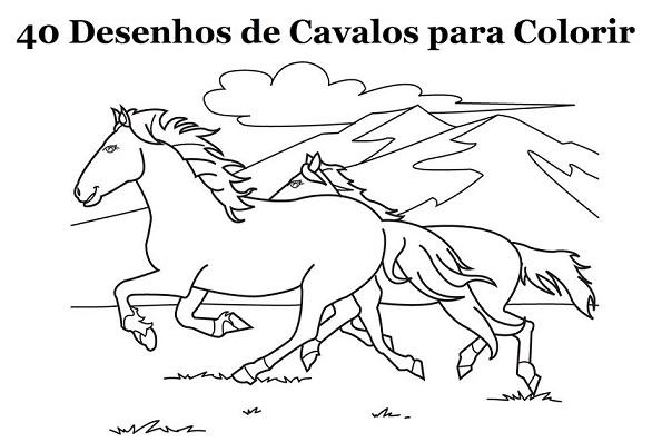 40 Desenhos De Cavalo Para Imprimir E Colorir Online Cursos