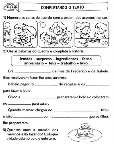 40 Atividades De Producao De Texto 1º Ano Do Ensino Fundamental