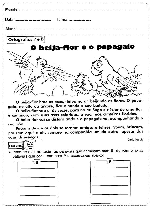 70 Atividades De Portugues 4º Ano Ensino Fundamental Para Imprimir