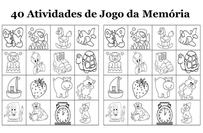 40 Jogos Da Memoria Para Imprimir Educacao Infantil E Maternal
