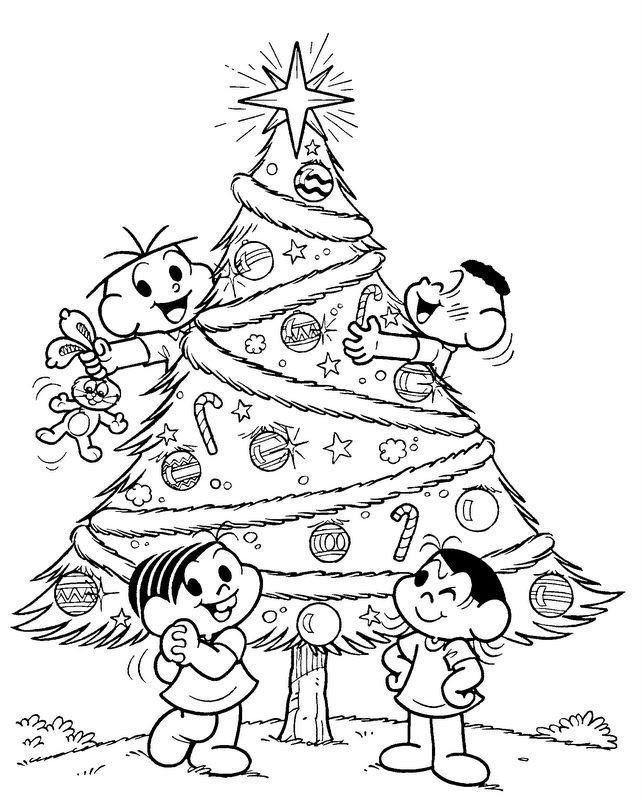 30 Desenhos De árvores De Natal Para Colorir Montar E