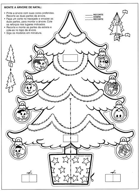 30 Desenhos De Arvores De Natal Para Colorir Montar E Imprimir