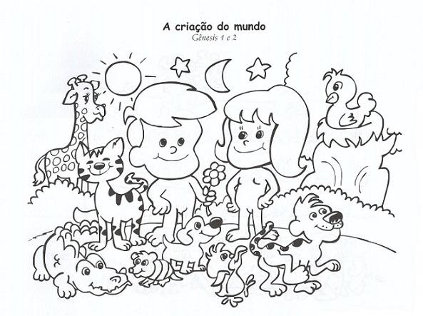 50 Atividades Sobre Criacao Do Mundo Para Imprimir E Colorir