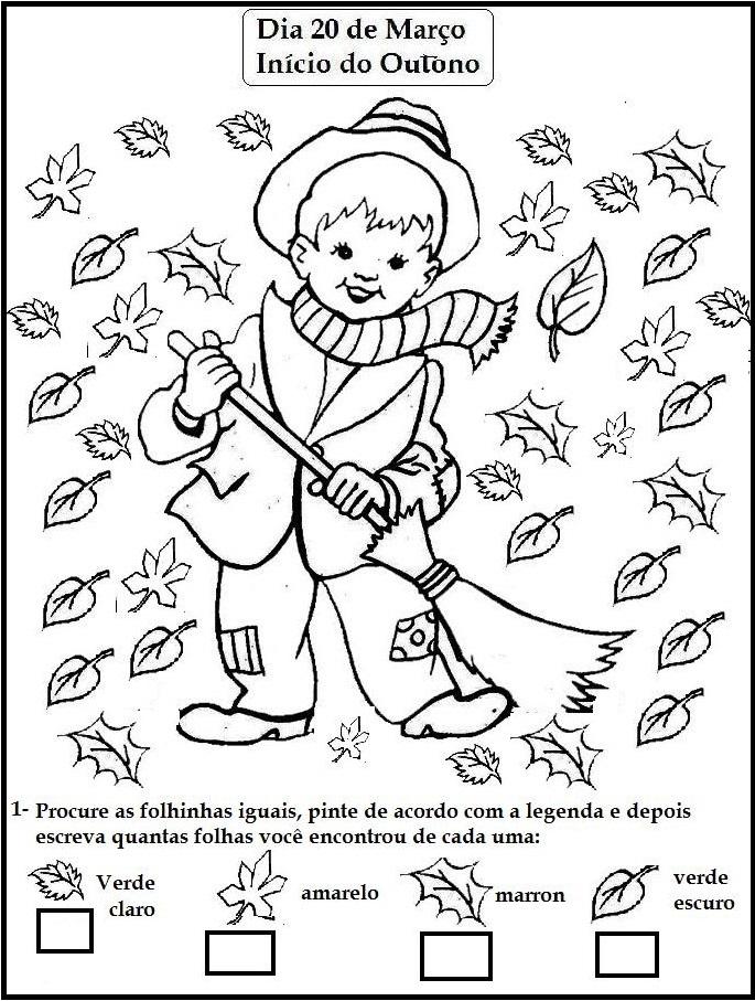 Outono Atividades E Desenhos Para Colorir Iii Atividades E