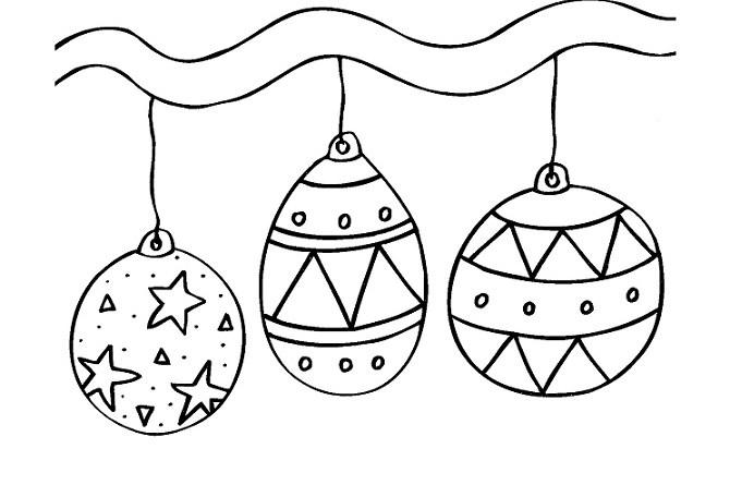 20 Desenhos De Bolas De Natal Para Colorir E Imprimir Online