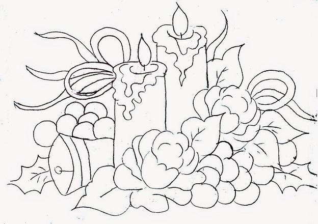 20 Desenhos De Velas De Natal Para Colorir E Imprimir Online